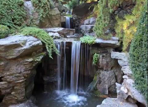 Jardin et chute d 39 eau for Cascade d eau de jardin